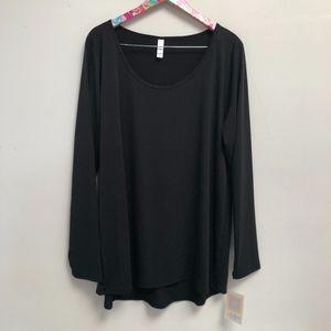 NWT Solid black LuLaRoe Lynnae top size 3XL